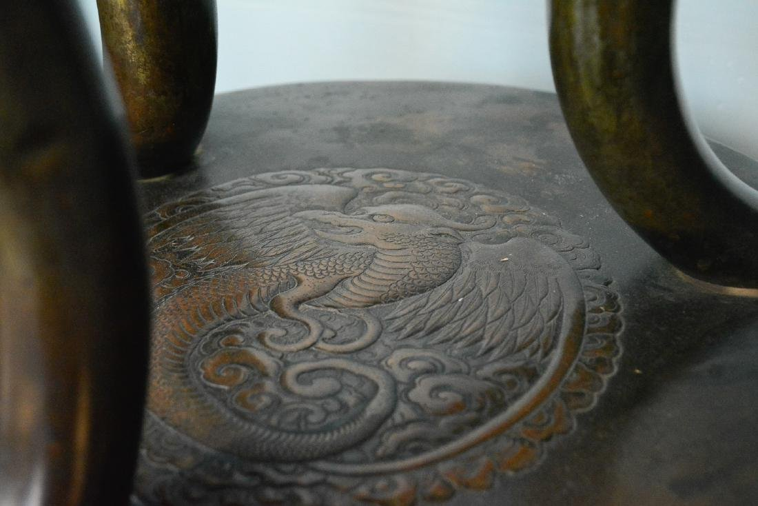 Large Japanese Bronze Censer - Samurai Scene - 4