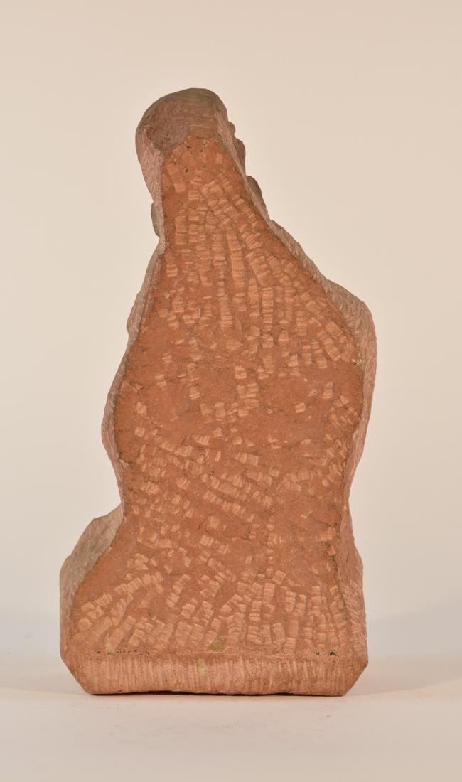 Antique  Indian Carved Red Sandstone Figurine - 5