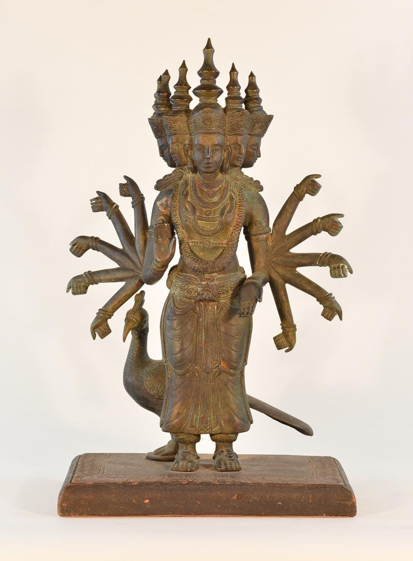 Unusual Southeast Asian Nepalese Bronze Buddha with