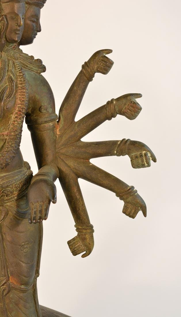 Unusual Southeast Asian Nepalese Bronze Buddha with - 3