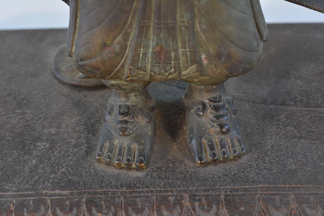 Unusual Southeast Asian Nepalese Bronze Buddha with - 4