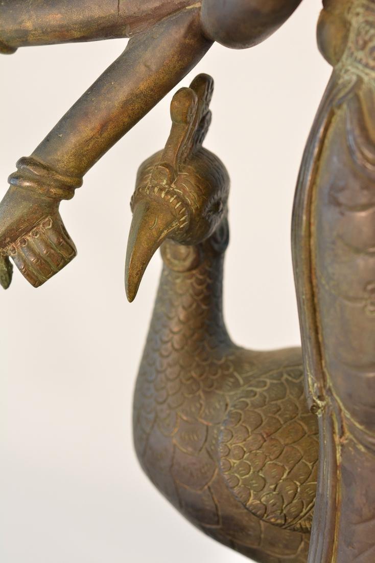 Unusual Southeast Asian Nepalese Bronze Buddha with - 5