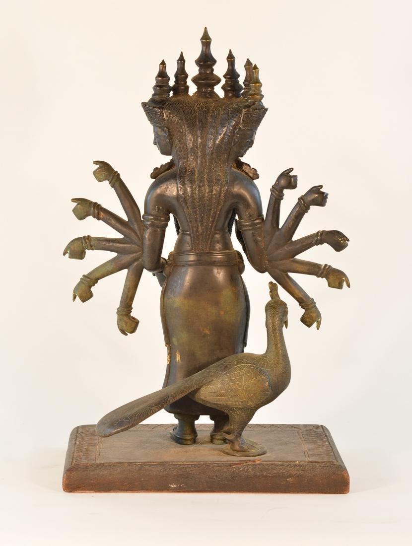 Unusual Southeast Asian Nepalese Bronze Buddha with - 8