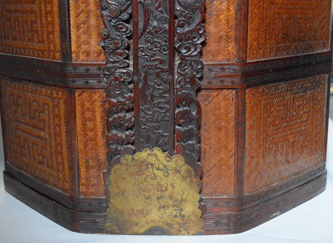 Very Large Floor Size Chinese Bamboo Box Basket - 6