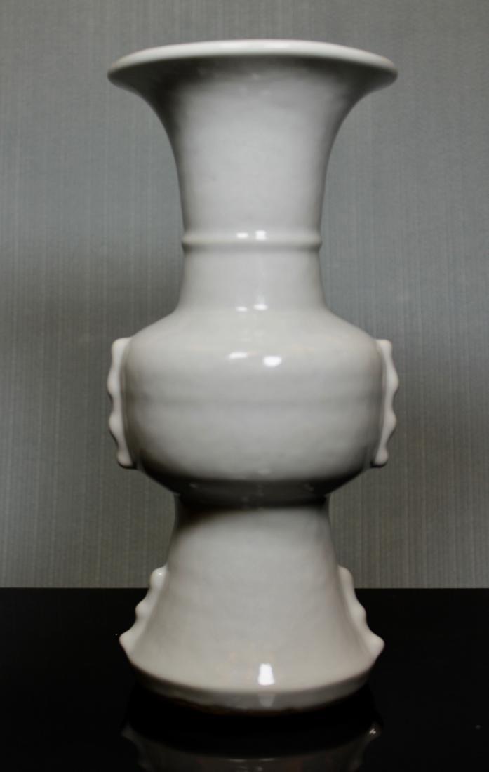 Chinese Ku Shaped Porcelain Vase with Incised