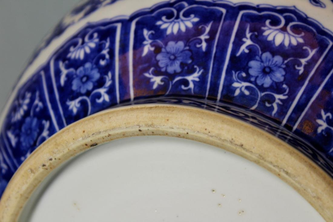Chinese Blue white Porcelain Vase with Handle - Albert - 7