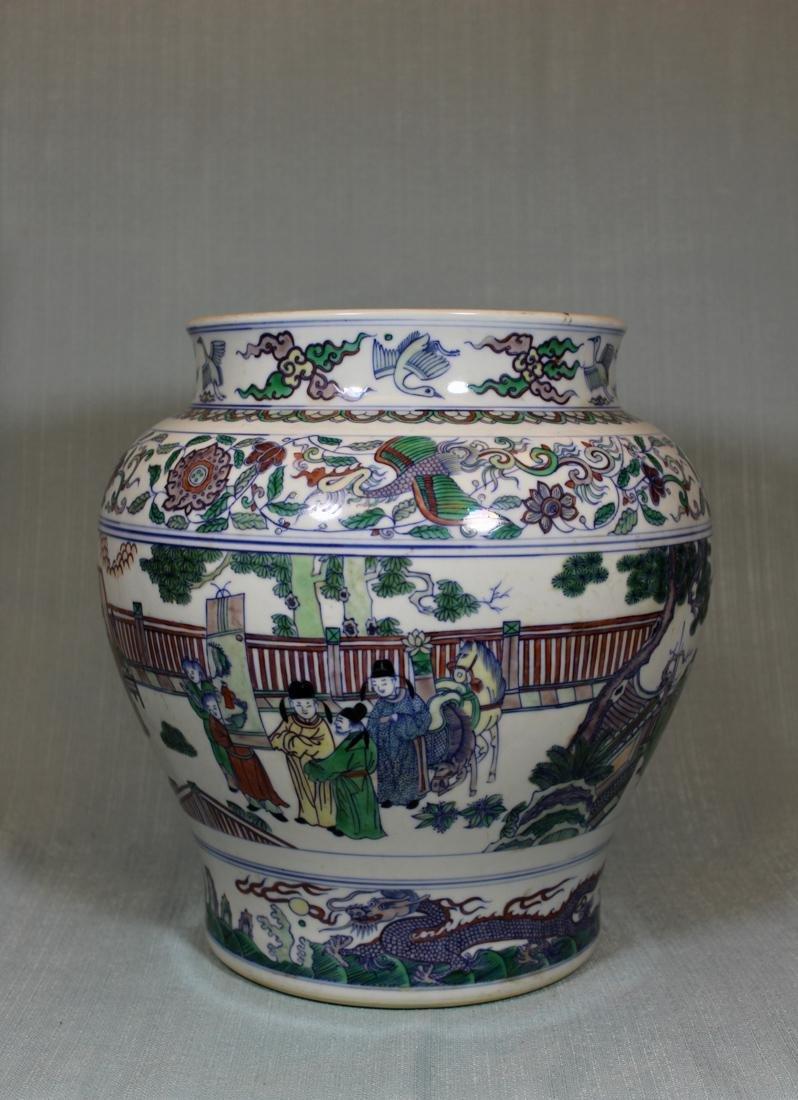 Chinese Doucai Blauster Jar - Albert Gallatin Estate