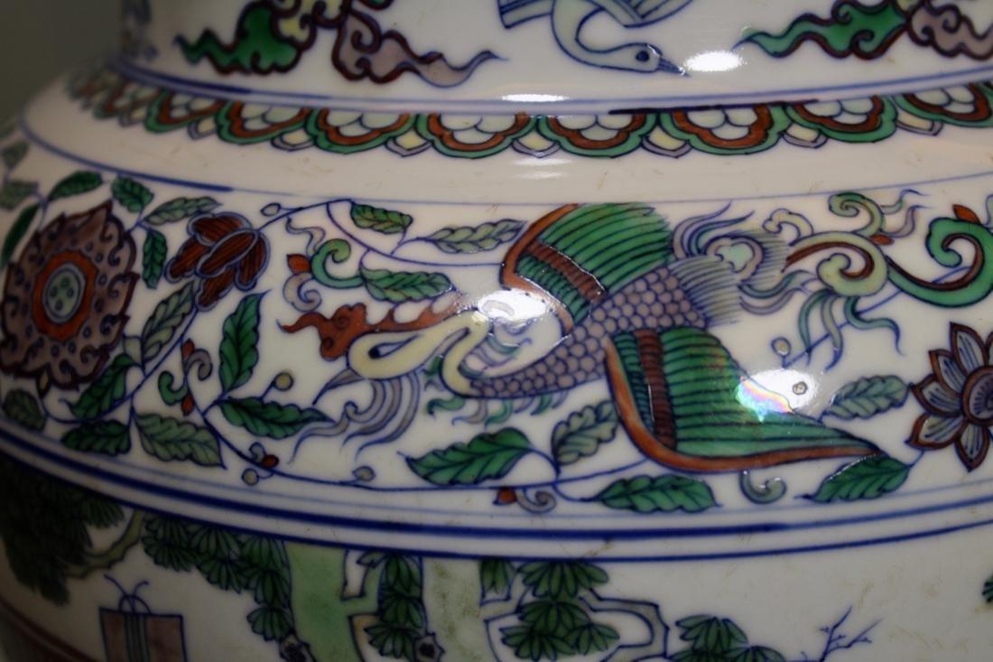 Chinese Doucai Blauster Jar - Albert Gallatin Estate - 2