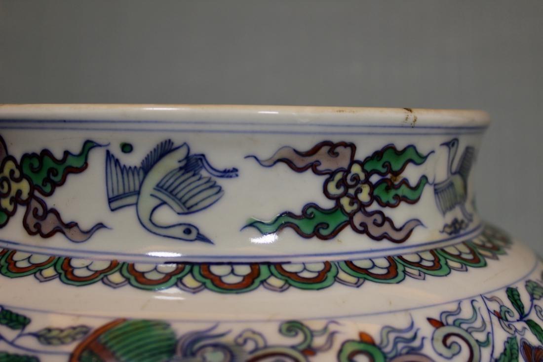 Chinese Doucai Blauster Jar - Albert Gallatin Estate - 3