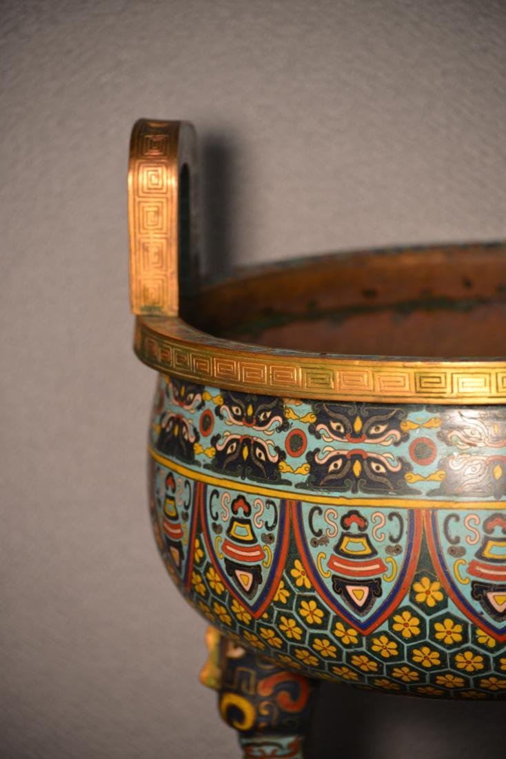 Chinese Cloisonne Censer of Massive Size - 4