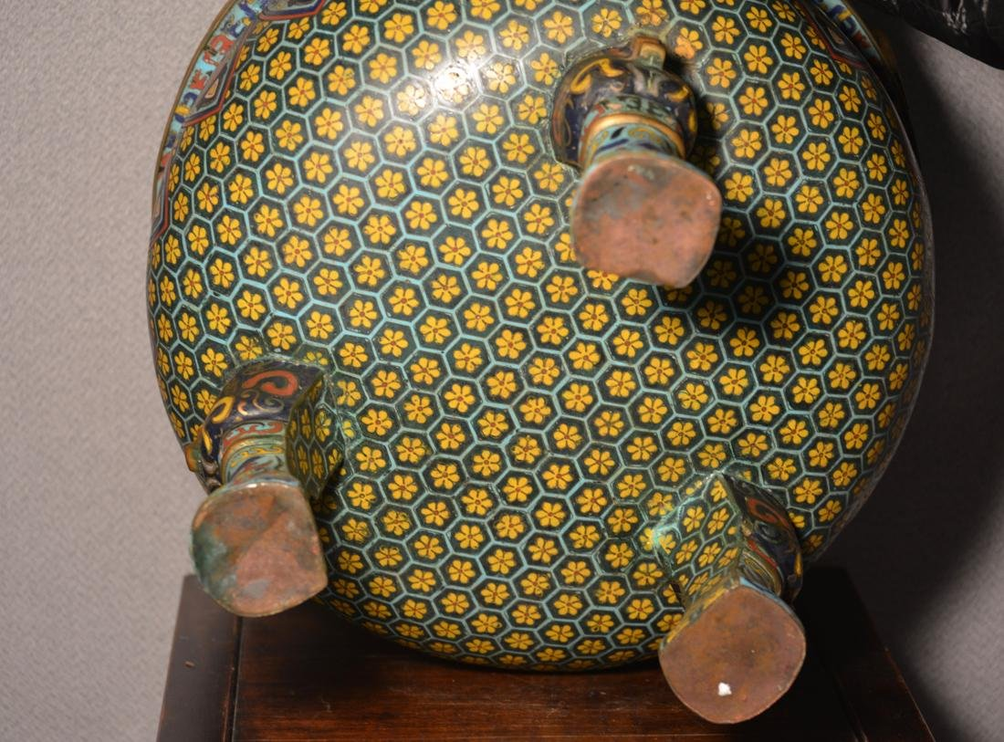 Chinese Cloisonne Censer of Massive Size - 6