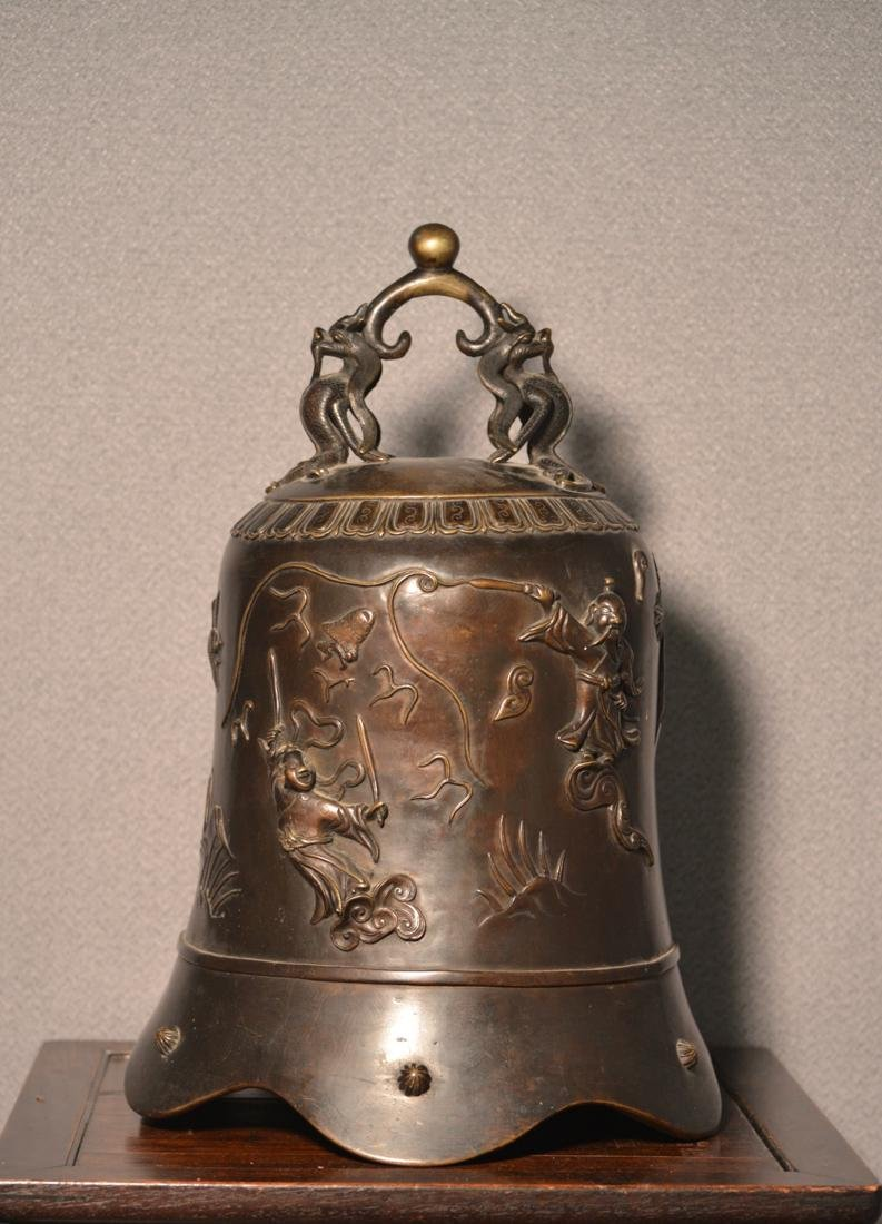Chinese Bronze Daoist Bell - Massive Size