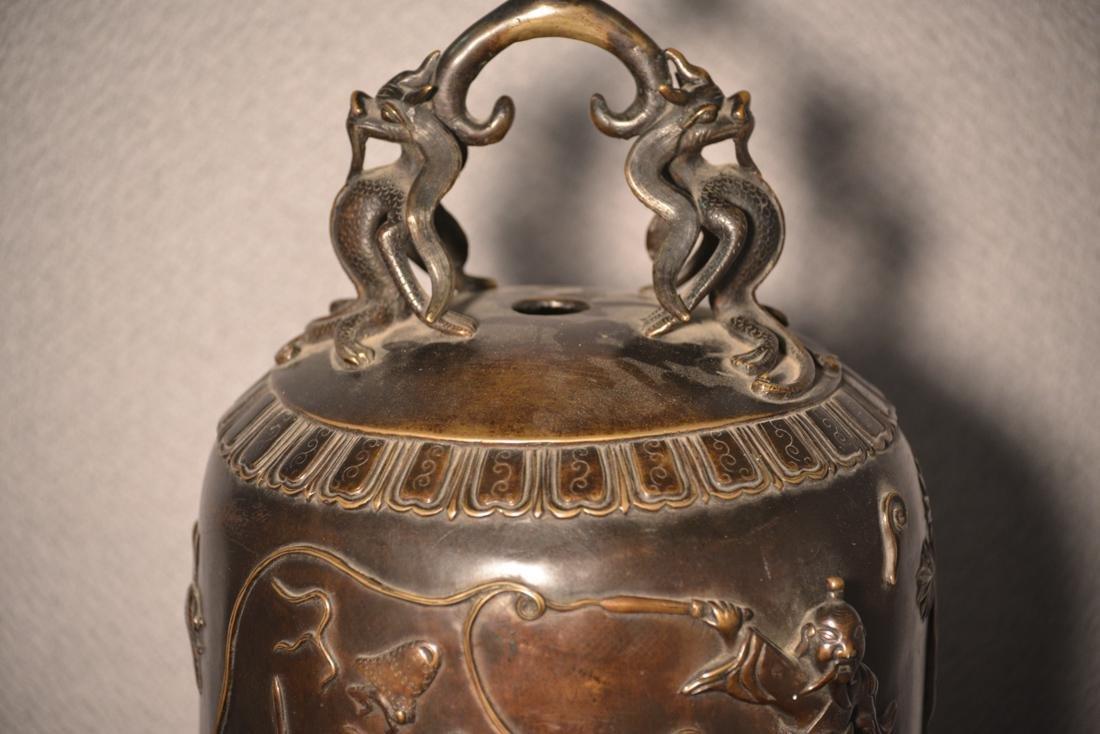 Chinese Bronze Daoist Bell - Massive Size - 2