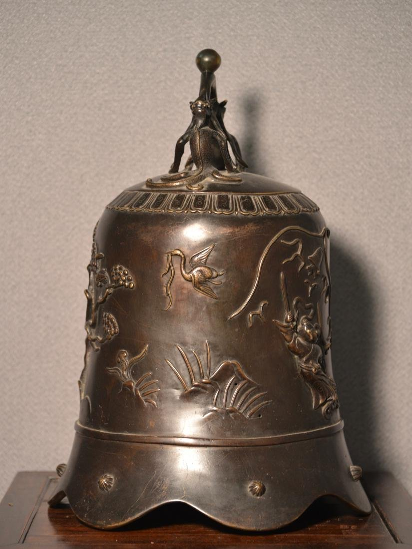 Chinese Bronze Daoist Bell - Massive Size - 5