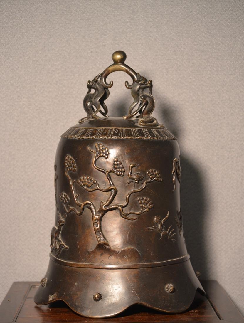 Chinese Bronze Daoist Bell - Massive Size - 6