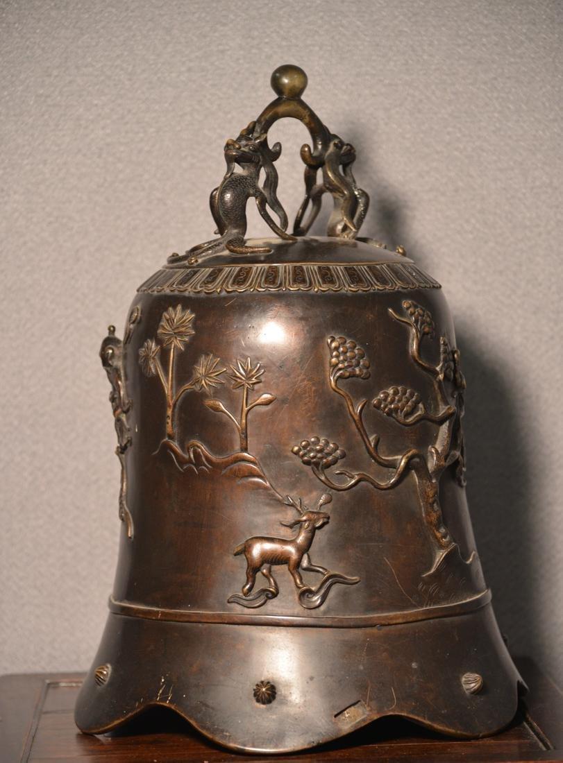 Chinese Bronze Daoist Bell - Massive Size - 7
