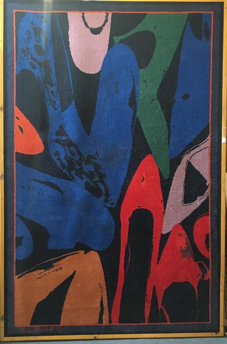 Art Deco Hanging Rug Designed by Andy Warhol