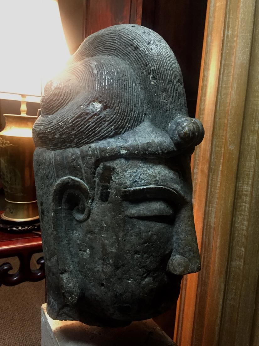 Antique Chinese Stone Head of Kuanyin - 4