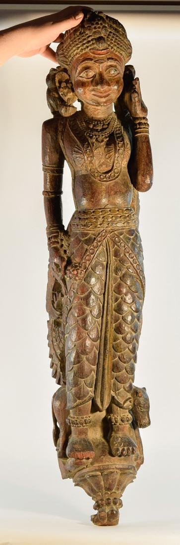 Indian Wood Dancer from Rajestan Region 17th cen