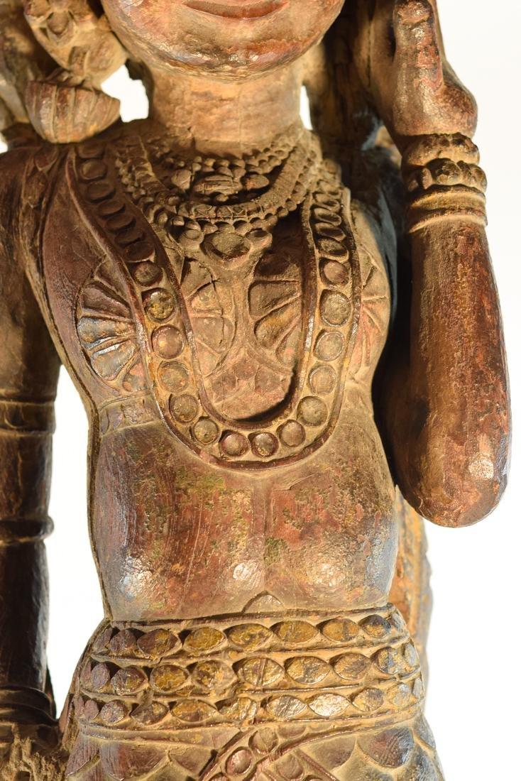 Indian Wood Dancer from Rajestan Region 17th cen - 3