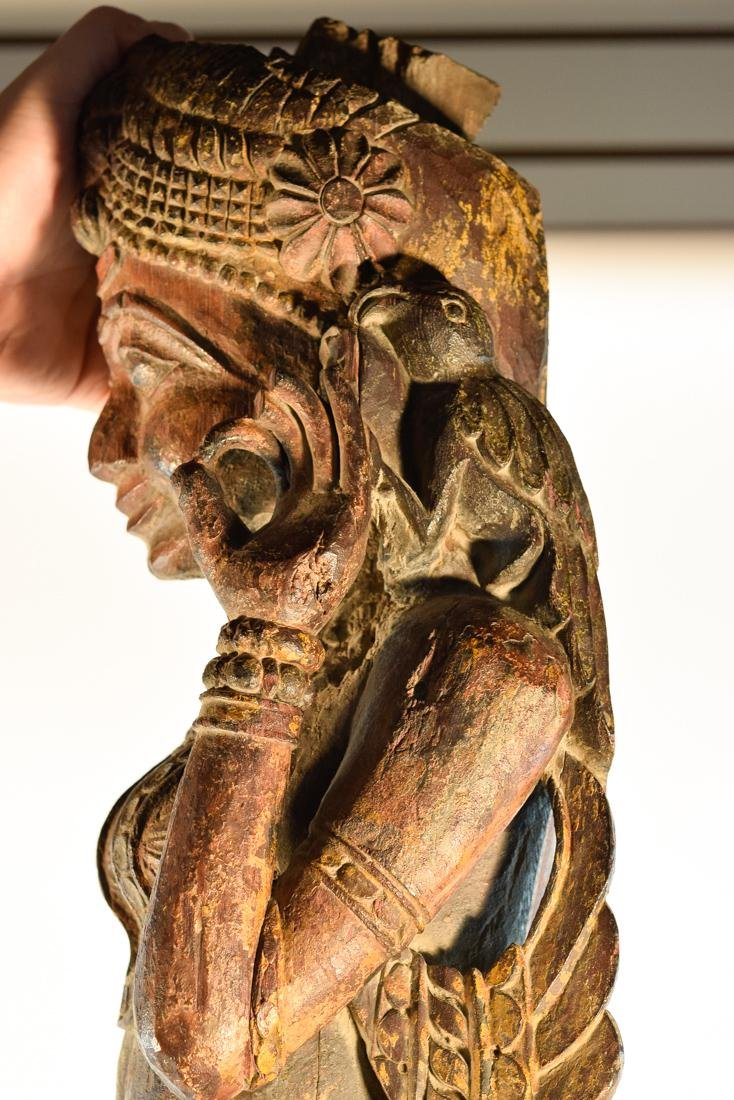 Indian Wood Dancer from Rajestan Region 17th cen - 8