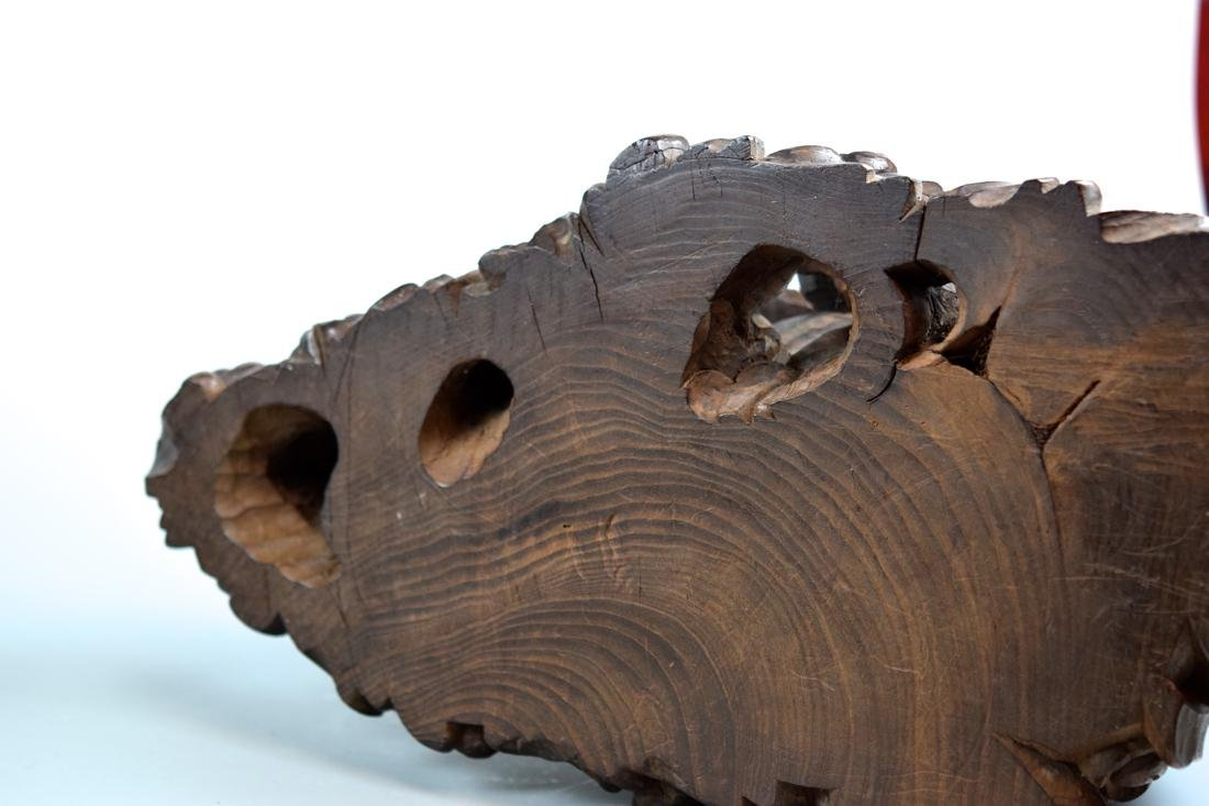 Japanese Carved Wood Kuanyin on Elephant - 10
