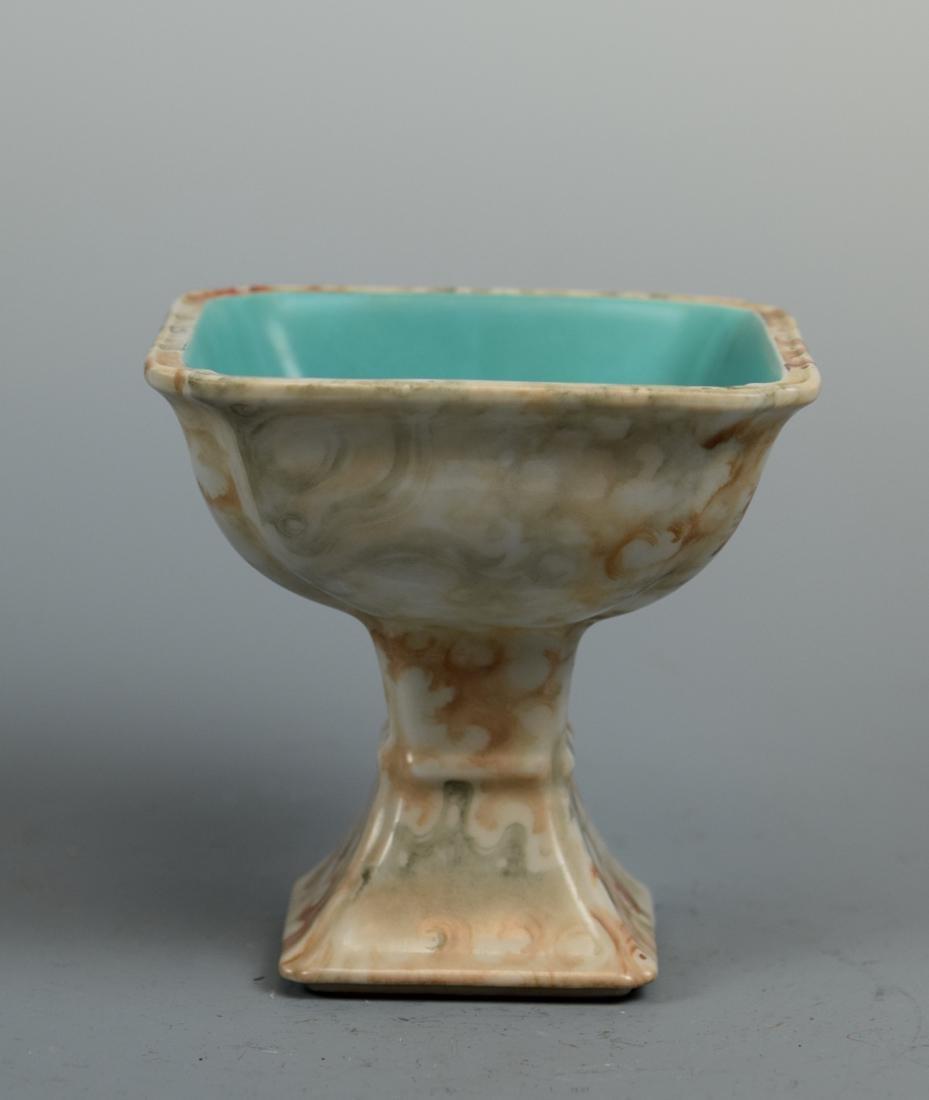 Chinese Porcelain Square Stem Bowl