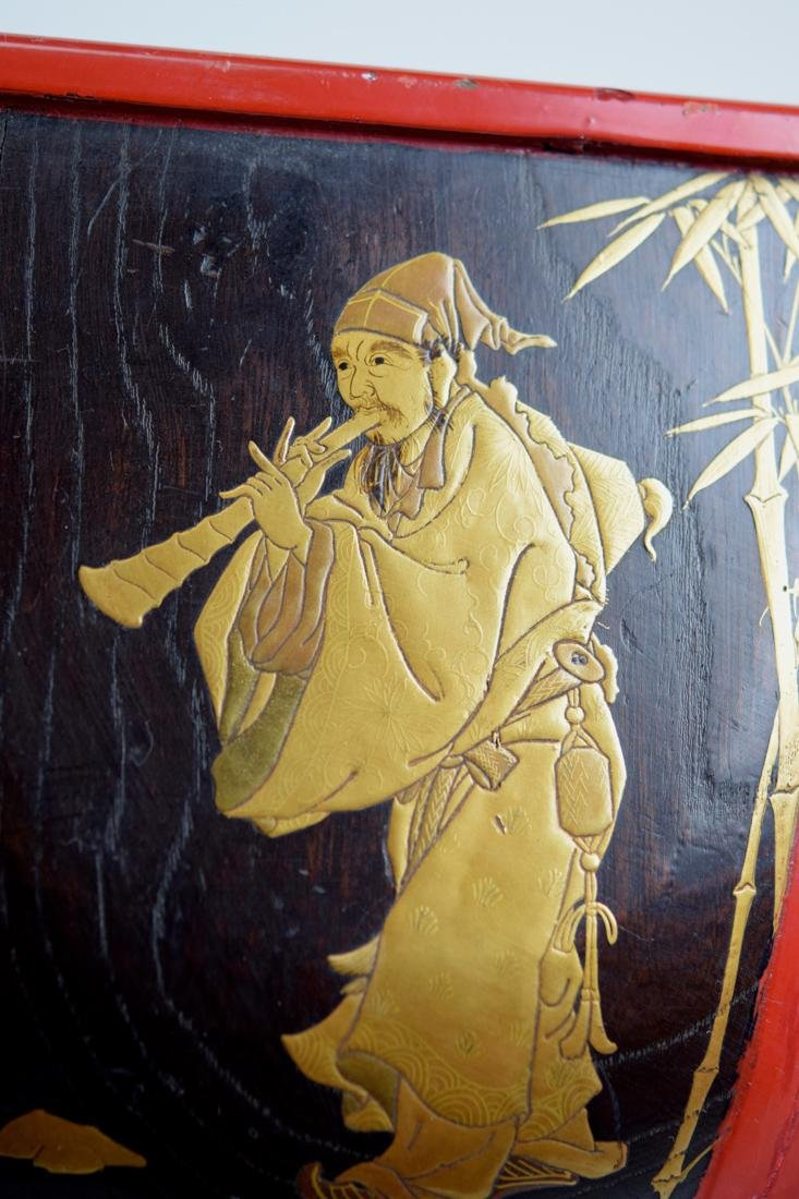 Japanese Lacquer Planeter with Immortal Scene - 6
