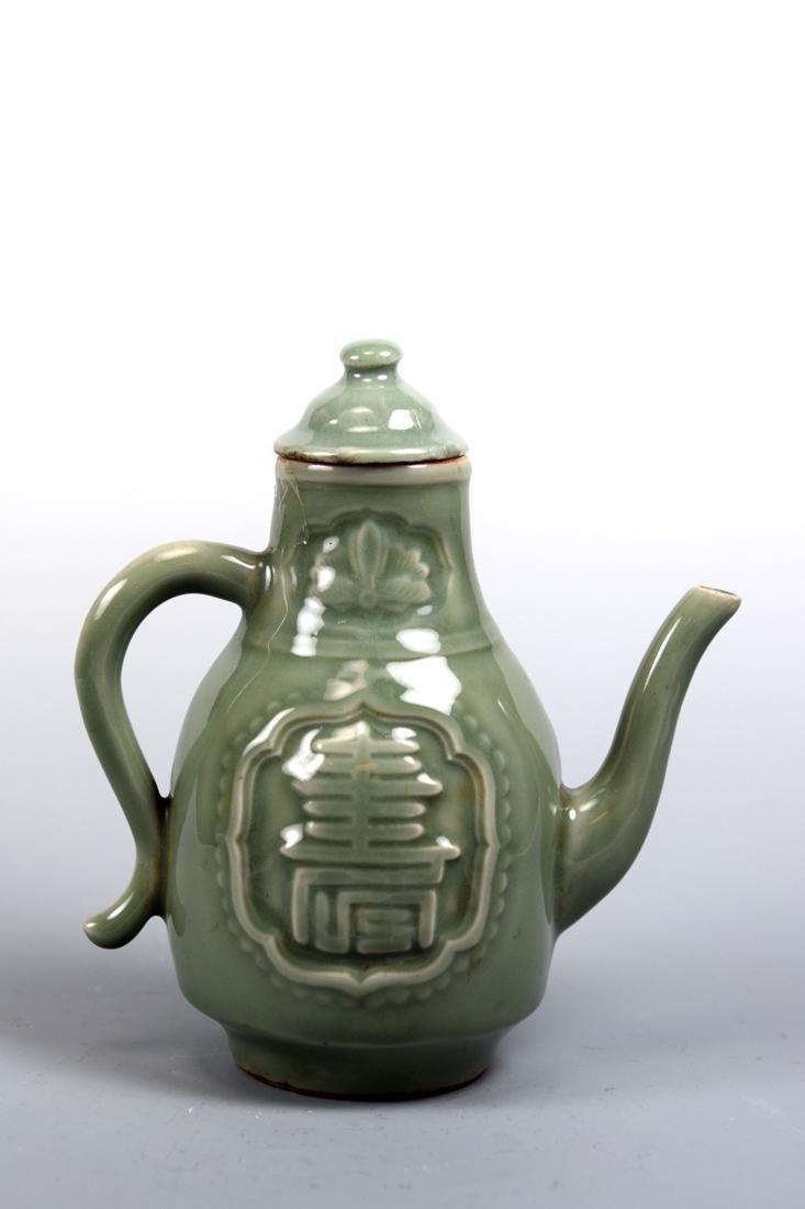 Chinese Celadon Porcelain Wine Ewer - 4