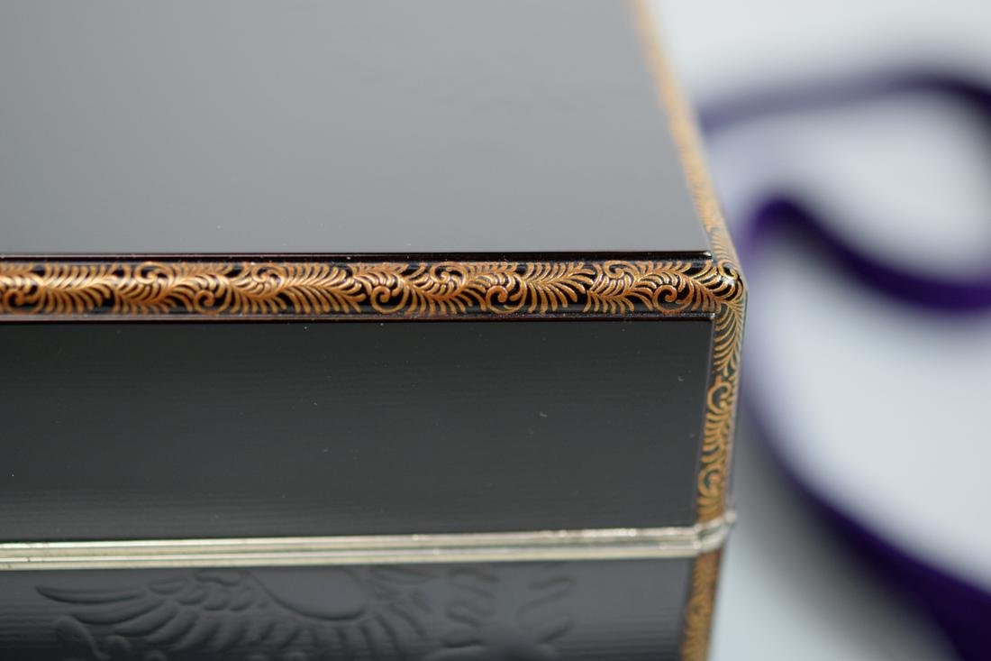 Japanese Lacquer Box with Silver Rim - 2