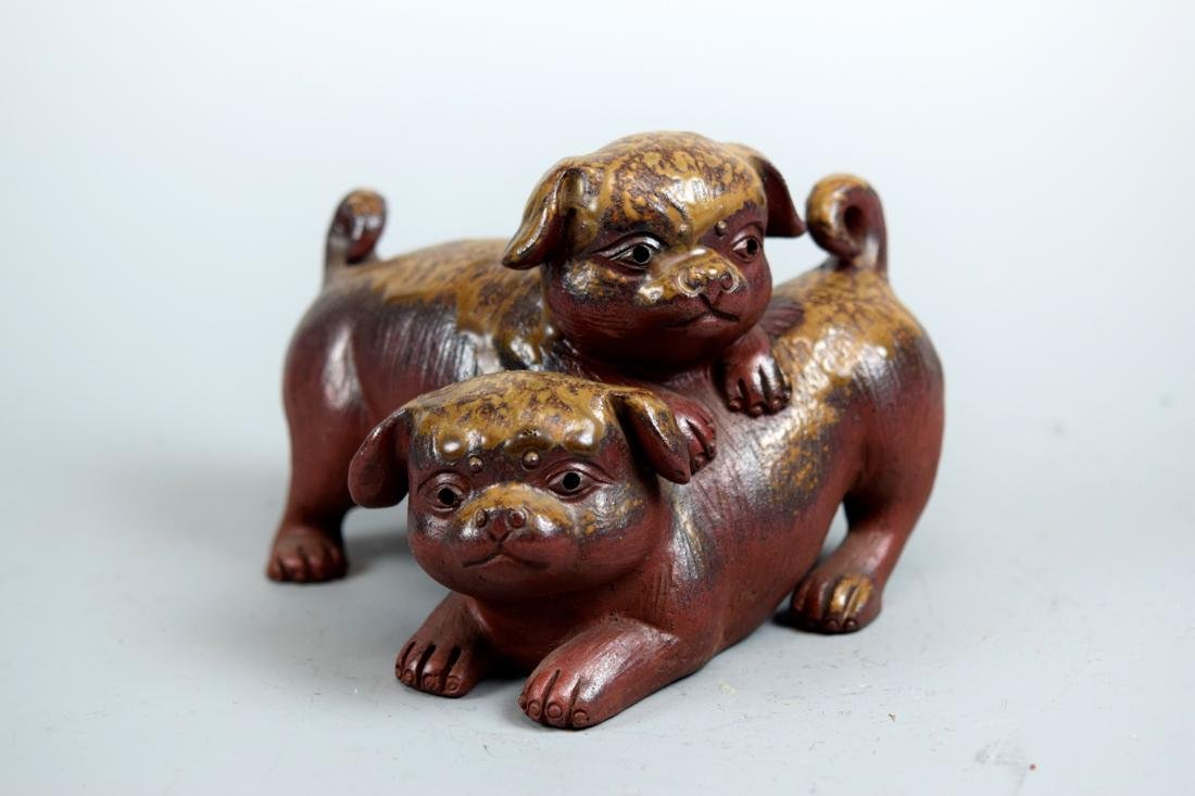 Japanese Bizen Model of Puppy Group