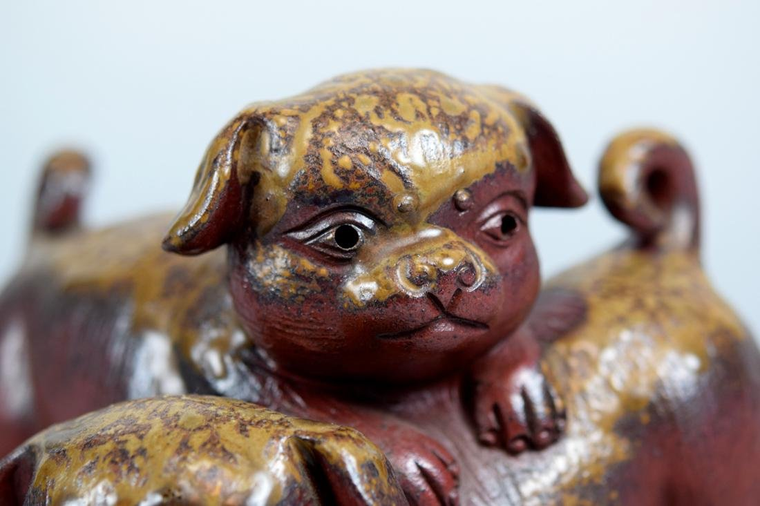 Japanese Bizen Model of Puppy Group - 2