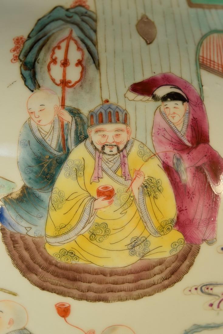 Large Chinese Famile Rose Porcelain Vase - Figural - 2