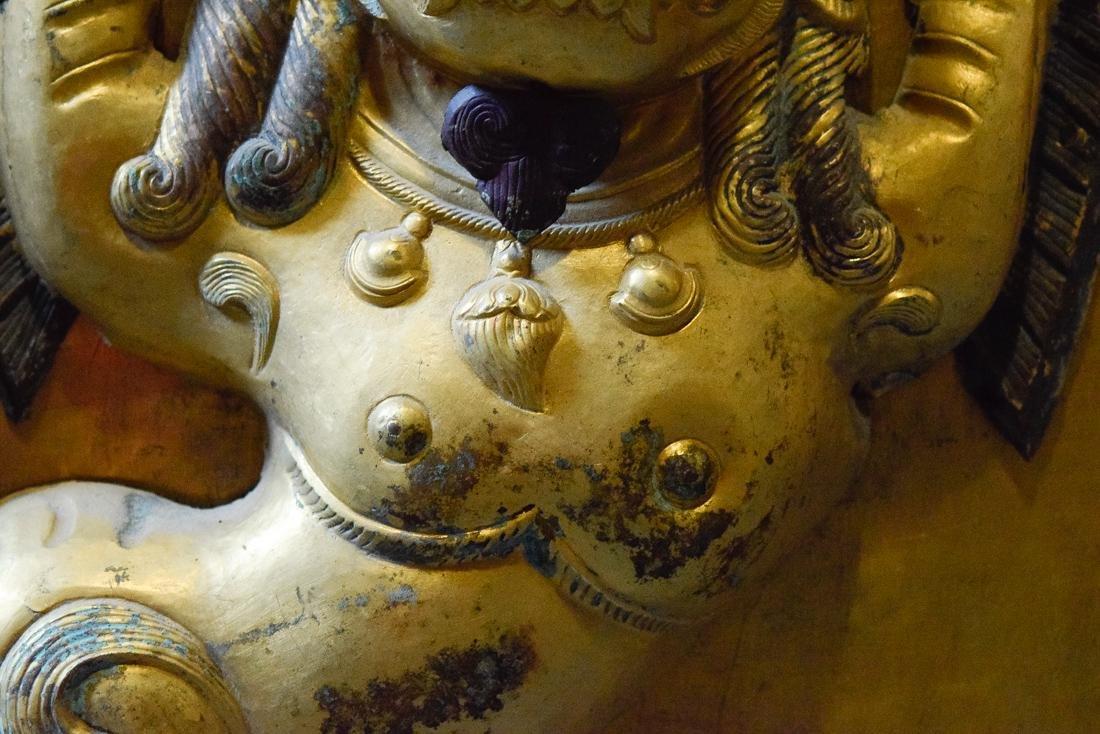 Tibetan Repousse Plaque of Buddhist Lion - 3