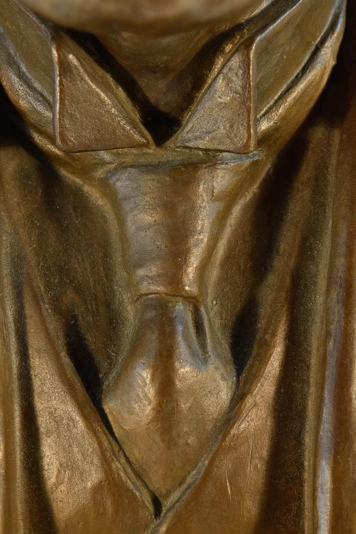 Japanese Bronze Sculpture of Imperial Family Member - - 3