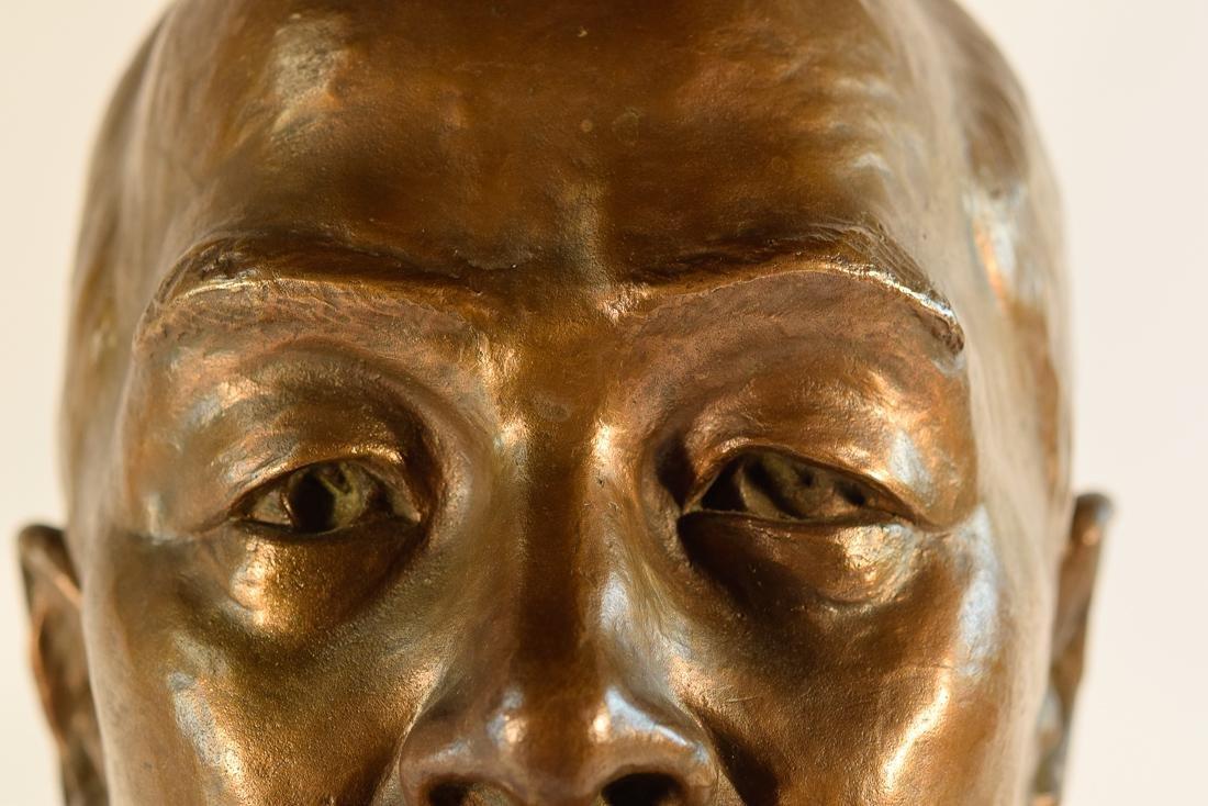 Japanese Bronze Sculpture of Imperial Family Member - - 4