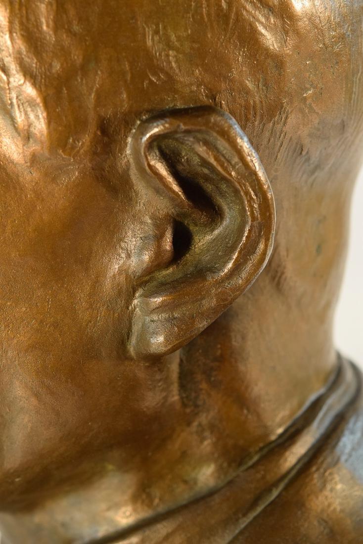 Japanese Bronze Sculpture of Imperial Family Member - - 8