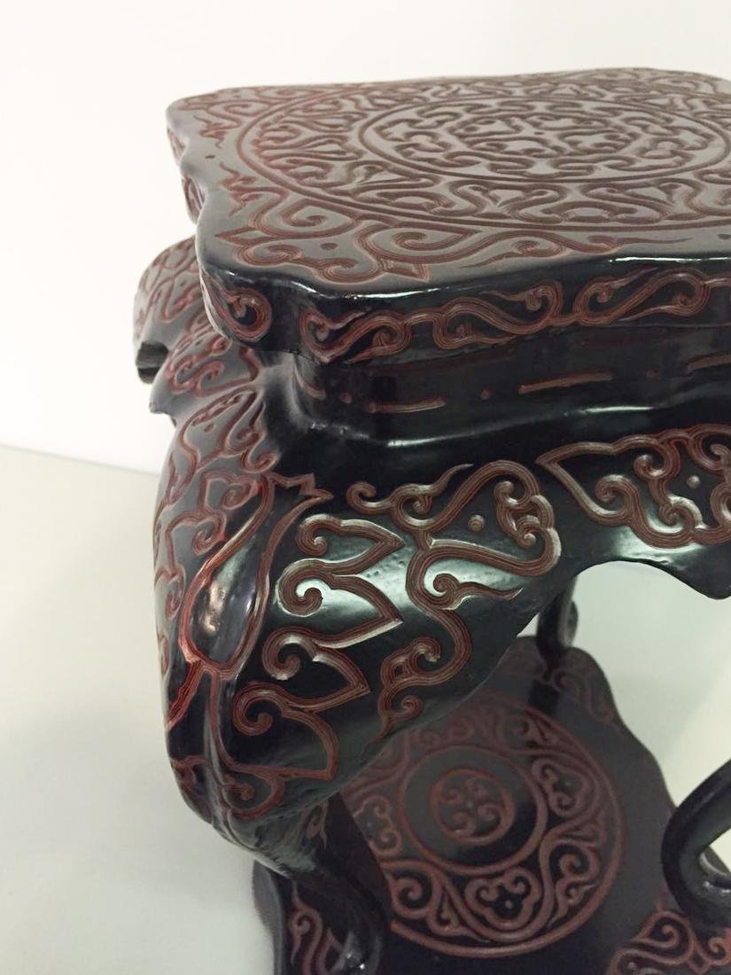 Chinese Guri Lacquer Censer Stand - 4