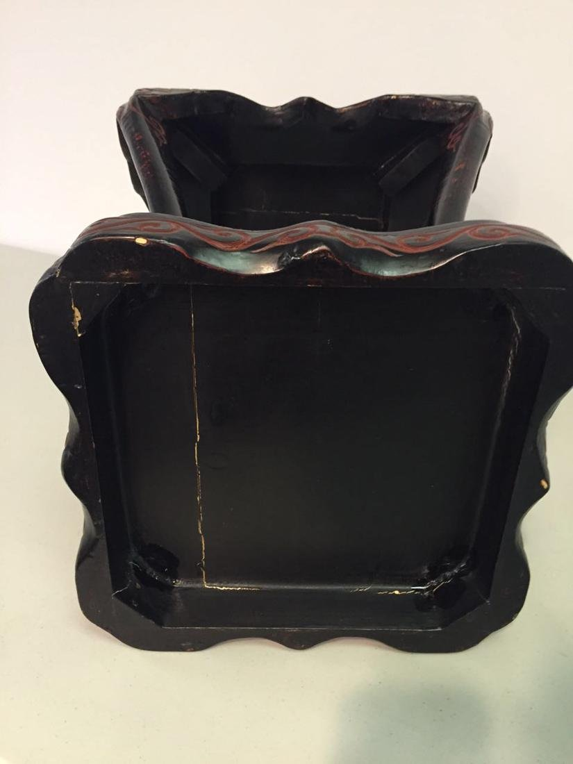 Chinese Guri Lacquer Censer Stand - 6