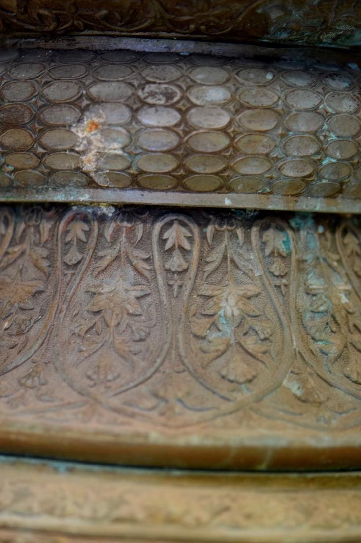 Massive Persian Mideastern Indian Bronze Vase - 8