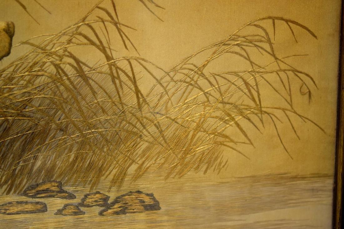 Japanese Embroidery of Dog Scene - 4