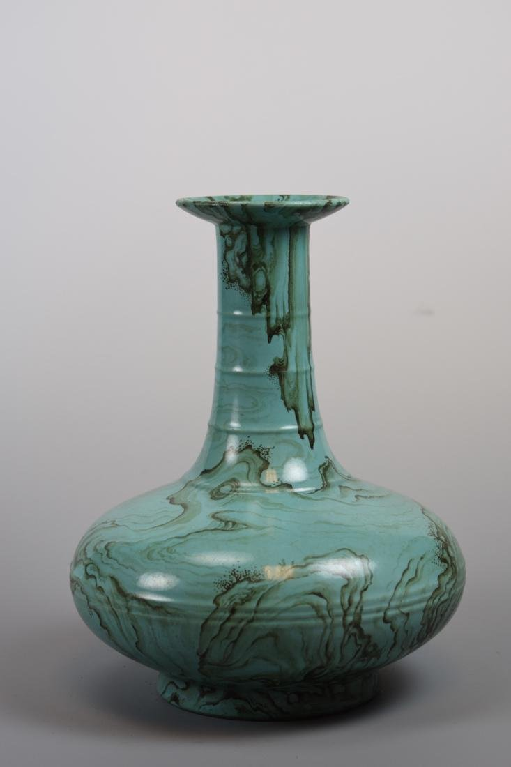 Chinese Porcelain Vase with Unusual Rock and Cloud
