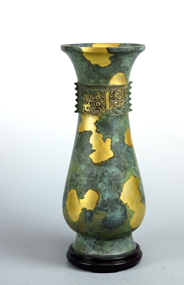 Japanese Gilt Bronze Vase with Box - 2