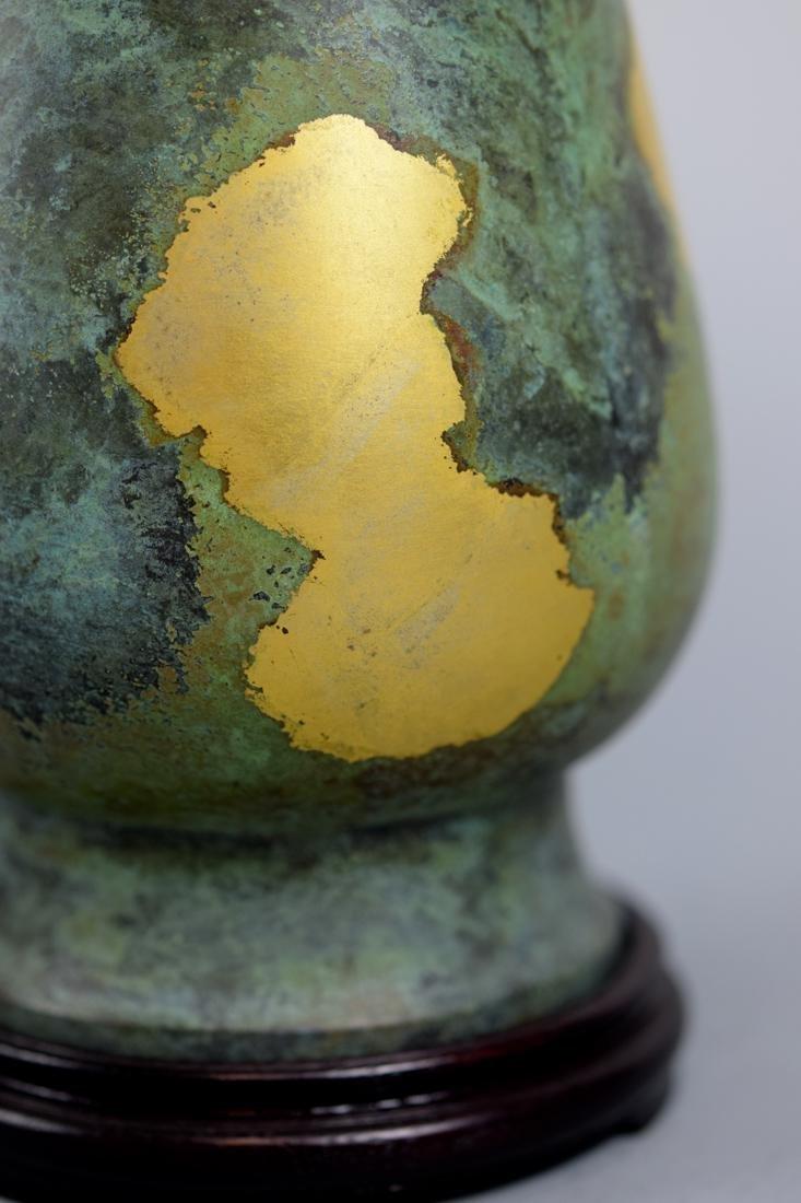 Japanese Gilt Bronze Vase with Box - 4