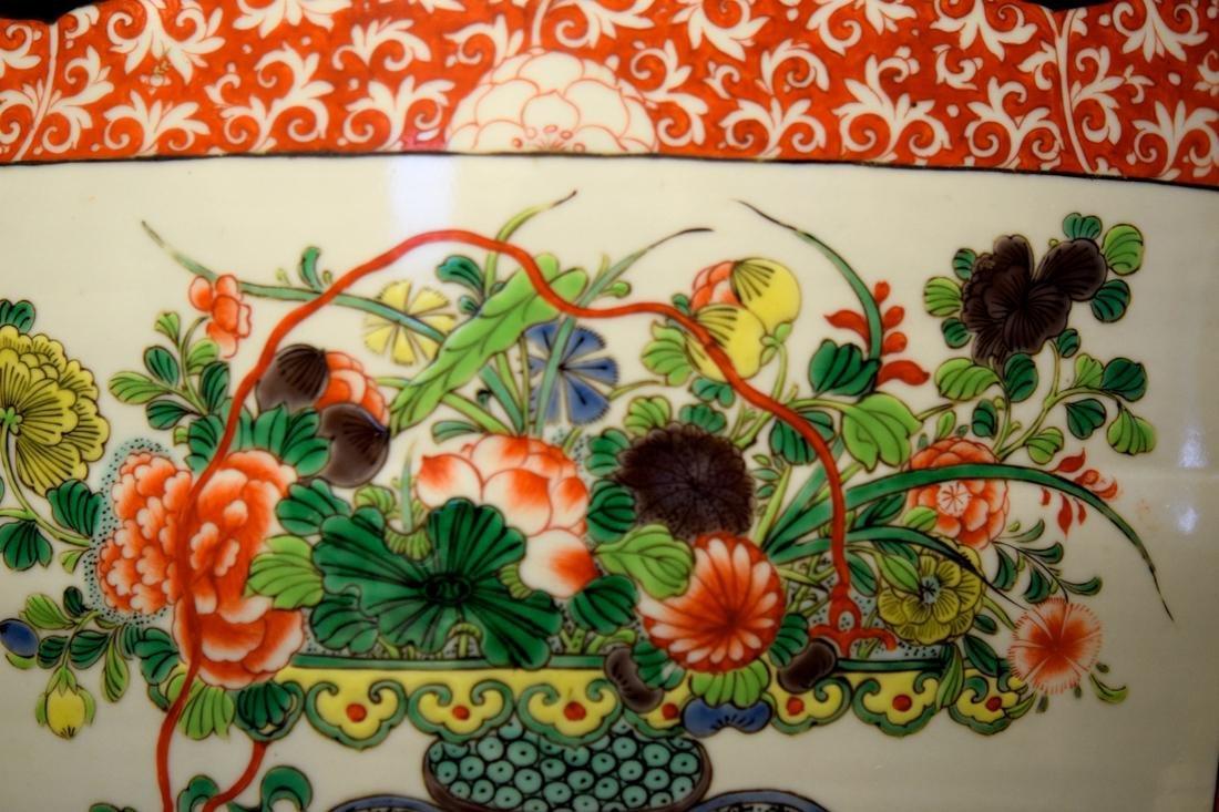 Chinese Famille Verte Porcelain Fish Bowl - 8