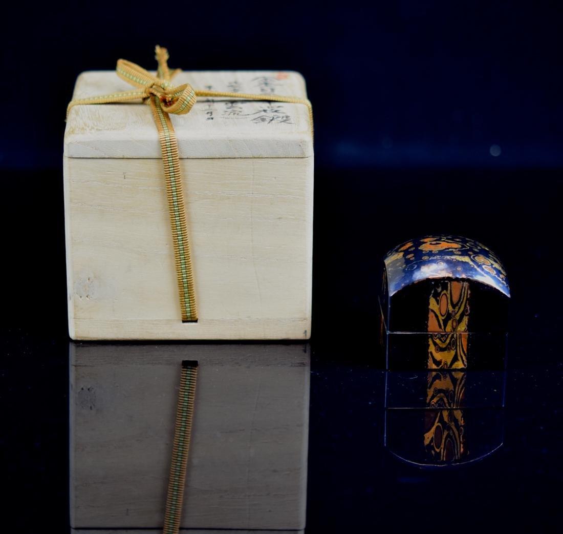 Japanese Mixed Metal Incense Box