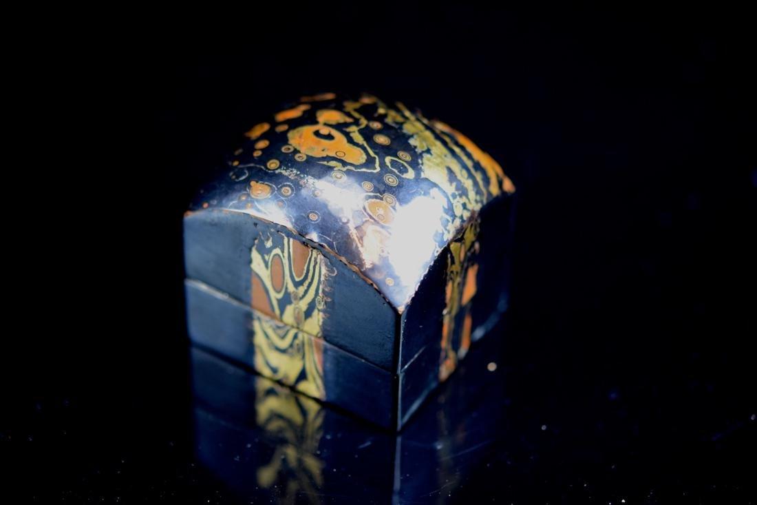 Japanese Mixed Metal Incense Box - 2