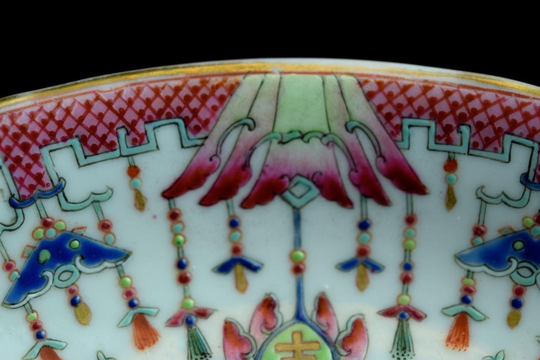 Three Chinese Famille Rose Porcelain Dishes - 5