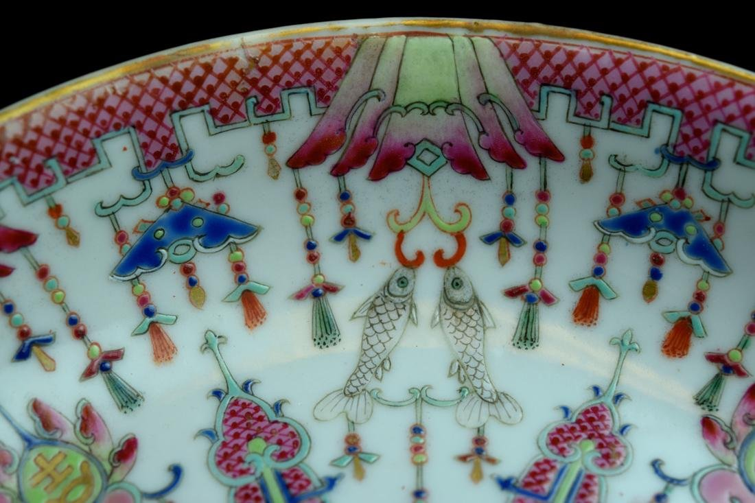Three Chinese Famille Rose Porcelain Dishes - 6