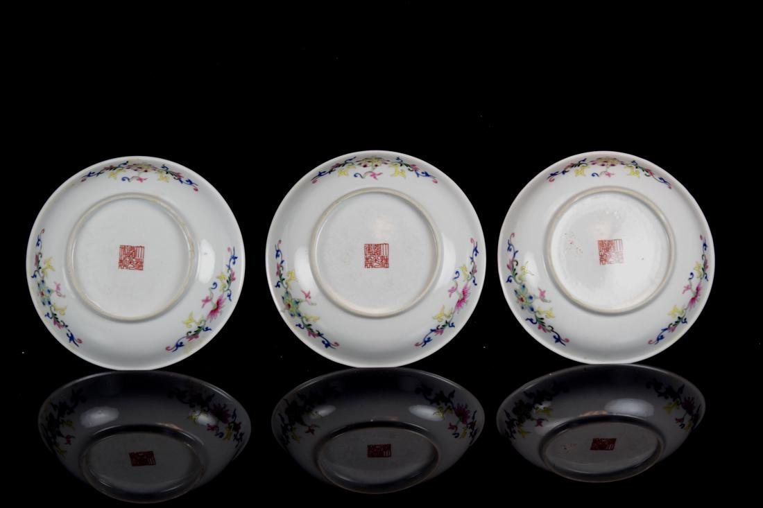 Three Chinese Famille Rose Porcelain Dishes - 7